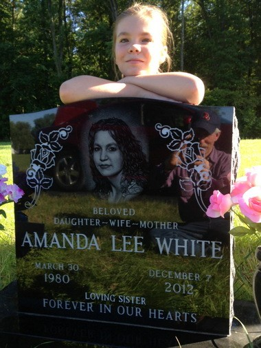 Meleia Perry helped raise money for her mother's headstone at Royalton Road Cemetery