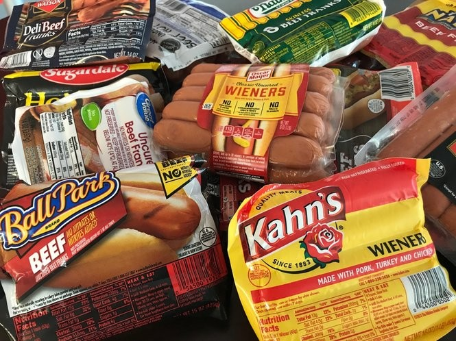 Check out the 19 store-bought hot dogs we'll be ranking in