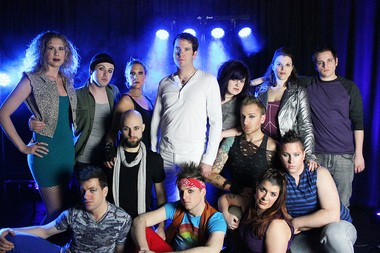 """The cast from Brecksville Theater on the Square's production of """"Jesus Christ Superstar"""" features actors from throughout Northeast Ohio."""
