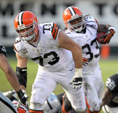 Joe Thomas led an offensive line that protected the passer and generated a feasible running game for most of the 2012 season.