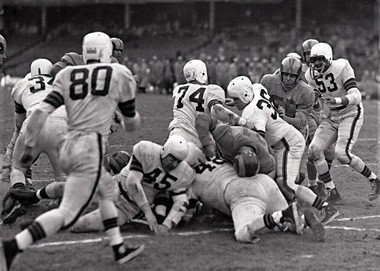 The Browns and Los Angeles Rams, who moved from Cleveland, met twice for the NFL title in 1950 and 1951 with each sides winning once.