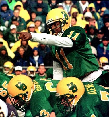 Akili Smith didn't spend a lot of time at Oregon, but he did put up big numbers when he was there and wowed scouts and coaches heading into the 1999 NFL Draft.