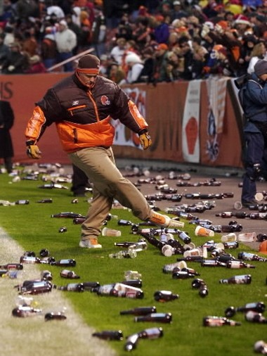 """It was going to take a lot more than one diligent employee to clean up the mess on the field after """"Bottlegate."""""""