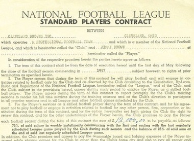 Initial bidding ends Saturday, April 25, on Jim Brown's one-page rookie contract.