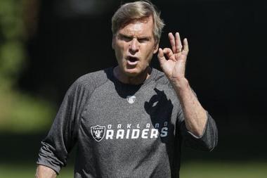 Former Raiders offensive coordinator Al Saunders.