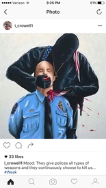 Isaiah Crowell quickly deleted this offensive drawing.
