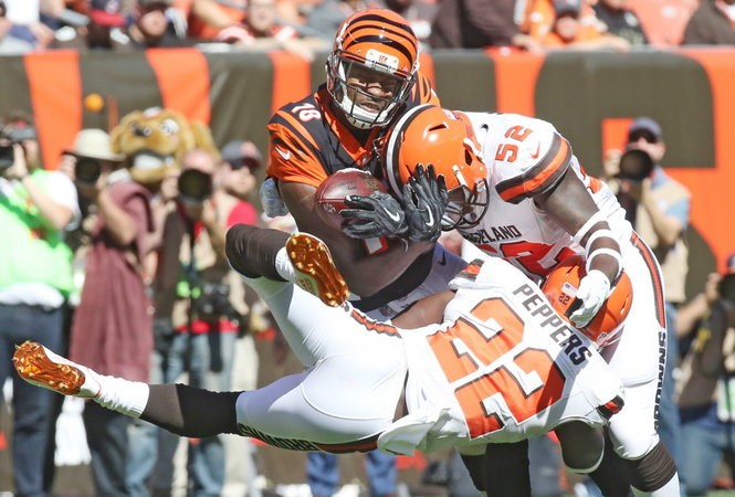 James Burgess started on Sunday against the Bengals.