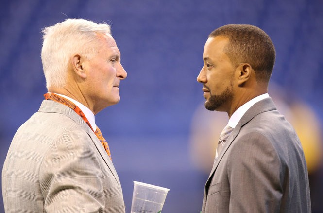 Owner Jimmy Haslam (left) needs to give Sashi Brown another draft to see this through.