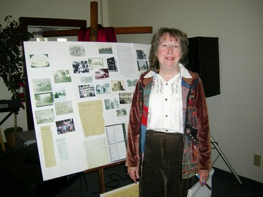 Mary Melynk of Columbia Station helped coordinate the gathering of historical societies May 14 to share stories of Beebetown.