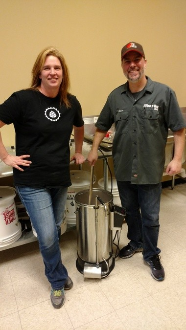Home brewing advocates and owners of Brunswick's Vine n Hop Shop, Kristin (left) and Steve Girard, will celebrate the company's first anniversary from 10 a.m. to 5 p.m. May 7 at the store's 1327 Carpenter Road location.