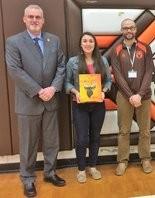 Buckeye Superintendent Kent Morgan, left, with Rotary Exchange Student Elizabeth Whetstone and, Principal, Gabe Tudor.
