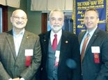 New members of Sunrise rotary are John Verdile, Dr. Dennis Kowalski and Scott Bradley.
