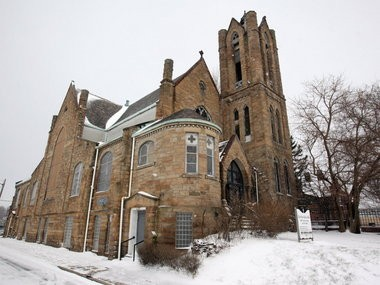 The Euclid Avenue Church of God, in this January 2012 photo, will be demolished, after a vote by the Cleveland Landmarks Commission. The congregation, which moved to Middleburg Heights, has been seeking permission to raze the historic church for two years. The city condemned it last month.