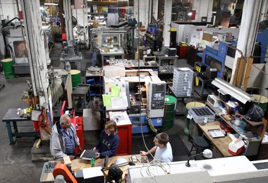 Diversification and new sophistication are expected to propel Cleveland's manufacturing industry into a growth era. At venerable Voss Industries on West 25th Street, workers use computer-controlled machines to make precision parts.