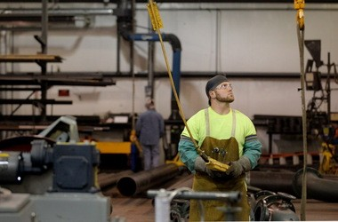 Michigan-based DE-CAL built a new fabrication plant in Youngstown to service the shale gas industry. Company officials said they were attracted by a pool of skilled tradesmen like Brett Budd, a pipe fitter and welder.