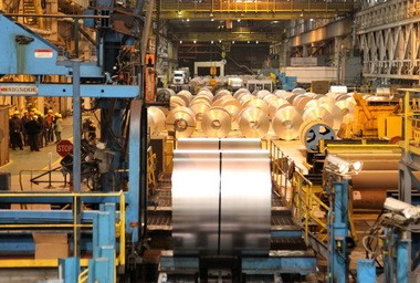 ArcelorMittal has invested millions of dollars in recent years to boost productivity at its Flats steel mill. The galvanizing line makes high-strength steels used by automakers and appliance companies.