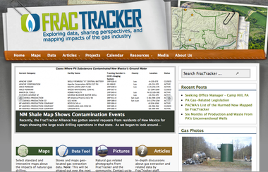FracTracker Alliance and its website monitor hydraulic fracturing of Utica shale
