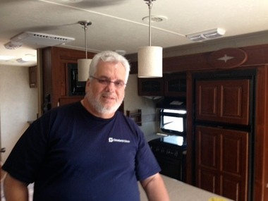 Retired truck driver Ron Spike bought a brand new towable recreational vehicle two months ago that he's parked in Geneva. New buyers like him represent optimism for the RV industry that a took a hit during the recession. The RV market continued to gain ground in the first quarter of 2013, according to the Recreational Vehicle Industry Association