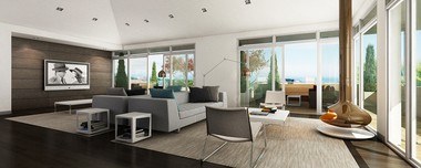 A rendering shows an apartment at the Mariner's Watch project. The apartments will replace an empty warehouse that used to hold yachting equipment and supplies.