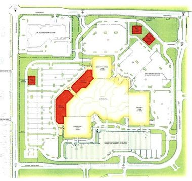 A conceptual plan shows the most recent iteration of the proposed Beachwood Place expansion. The land along Richmond Road is now residential and would require a rezoning.