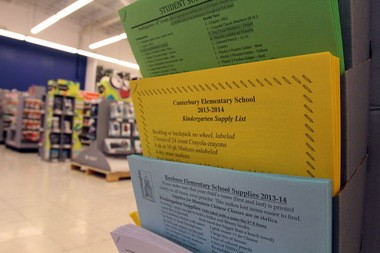 The OfficeMax store in Cleveland Heights carries copies of the school lists for Cleveland Heights-University Heights City Schools, so parents know exactly what they have to buy. Retail experts say more parents will ask their children to reuse their school supplies from last year in an effort to save money in the face of rising back-to-school costs.