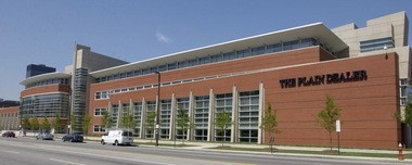 With layoffs Wednesday, The Plain Dealer trimmed its newsroom staff by about one-third. About 110 unionized reporters, photographers and designers will work out of the cavernous newsroom on the first floor of 1801 Superior Ave.