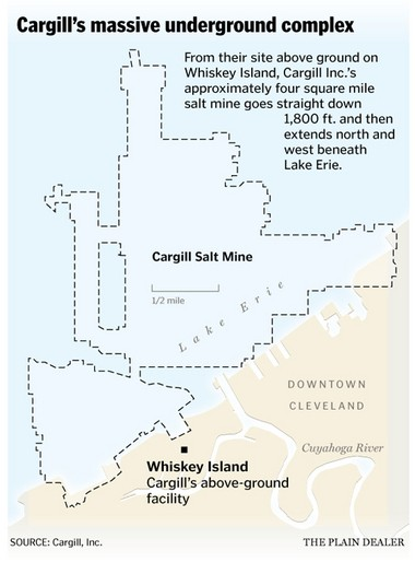 Detroit Salt Mines Map on
