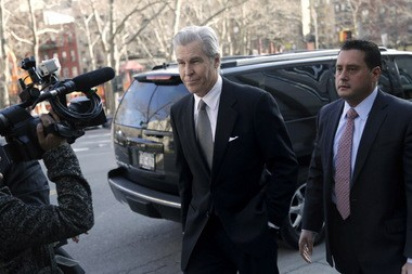 Macy's Chairman, President and Chief Executive Terry Lundgren shows up to testify at the New York State Supreme Court trial on Feb. 25, 2013. Macy's sued Martha Stewart Living Omnimedia for breach of contract after it signed an agreement to provide products and designs to rival JCPenney, in violation of its own exclusive agreement with Macy's.