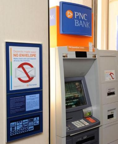 PNC customer deposits $10,000 check into ATM and -- surprise