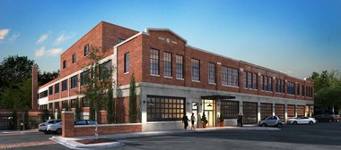 A rendering shows the restored exterior of the Fairmont Creamery building in Cleveland's Tremont neighborhood. A project set to start this week and end in late 2014 will remake the building with 30 apartments, parking, offices and other commercial space.