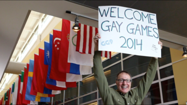 The video Goldfarb Weber Creative Media made to promote the 2014 Gay Games coming to Cleveland includes a brief cameo by Chief Executive Tony Weber.