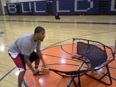 Cleveland South High and Miami University star Chester Mason practices drills with the Zone190 in a promotional video.