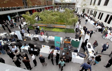 The Entrepreneurship Expo Monday at the Cleveland Museum of Art showcased dozens of young tech companies, many of which will participate in Tech Week.