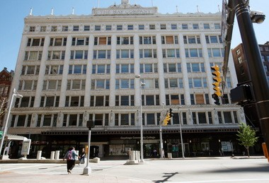 """The developers behind a potential apartment conversion of the mostly vacant May Co. department store on downtown Cleveland's Public Square missed out, once again, on a """"catalytic"""" state tax-credit award to round out their financing package."""