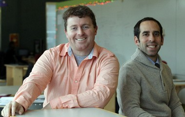 Darragh Caldwell and Todd Goldstein, right, founded LaunchHouse in 2008 hoping to boost entrepreneurship in Greater Cleveland.