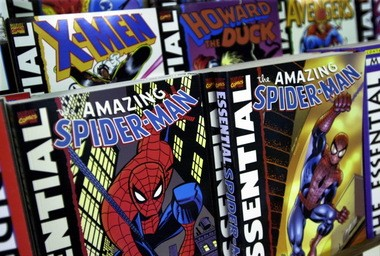 Spiderman comics at Carol and John's Comic Shop in Cleveland