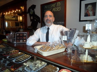 Jeff Moreau is owner of Sweet Moses Soda Fountain & Treat Shop