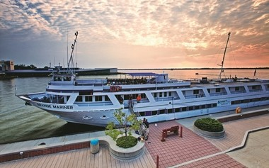 The Grande Mariner, part of a new class of cruise ships on the Great Lakes, will visit Cleveland on Monday during its sail from Chicago to Rhode Island.
