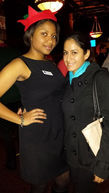 Leia Bradford, left, and Gina Peterson attended a fundraiser sponsored by the Cleveland Professional 20/30 Club in December. It's one of several young professional groups growing with new members.