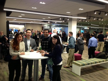 The Hadoop Users Group drew a crowd to a meet-up at the Global Center for Health Innovation in January.