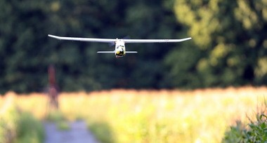 An Event 38 drone can survey a section of farmland, 640 acres, in 90 minutes.