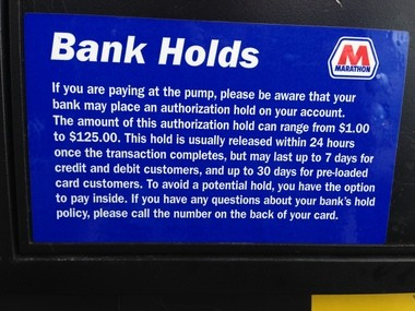 Marathon Credit Card Login >> Who Puts That Hold On Your Card When You Pay At The Pump The Gas