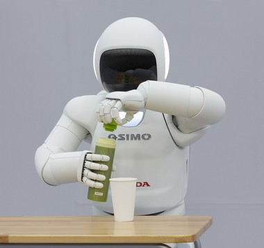 At Honda, the company's newest version of its humanoid robot dubbed ASIMO made its first U.S. appearance in April of this year in a three-day event in New York City. ASIMO, which stands for Advanced Step in Innovative Mobility, was first introduced 14 years ago