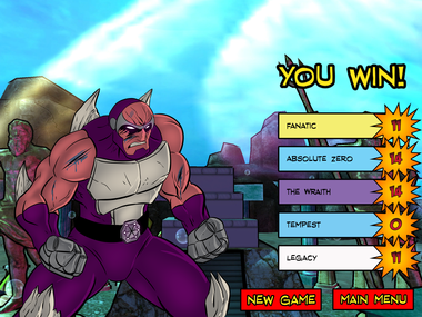 A scene from Sentinels of the Multiverse.