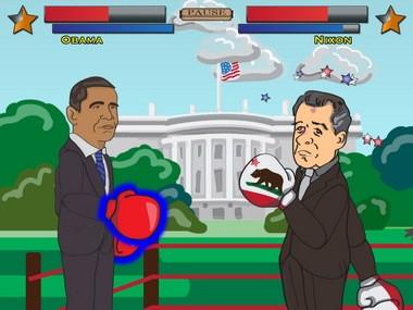 Handelabra Games' Uncle Slam presidential boxing game.