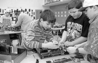 Eugene Malinskiy, featured in a Plain Dealer file photo as a fifth grader, along with Jim Grosse and Michael Walker, all working on a VCR in an afterschool machine class at Greenview Middle School in South Euclid. Malinskiy has no recollection of this photo. He remembers well tinkering on all sorts of machines and toys as a kid.