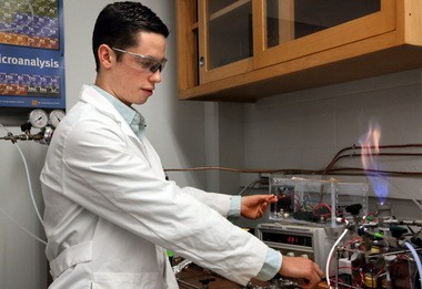 CWRU engineering student Felipe Gomez del Campo invented a plasma-based fuel injection system for jet engines.