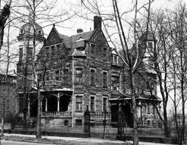 The Leisy property in Ohio City included Isaac Leisy's mansion, next to the brewery. The family also had an estate on Cleveland's east side, at the top of Fairhill Road.