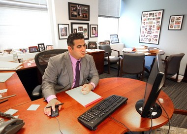 Tony Catanzarite, a law partner, works at Reminger Co., LPA on May 14, 2015. Reminger is the No. 1 mid-sized Top Workplace for 2015.