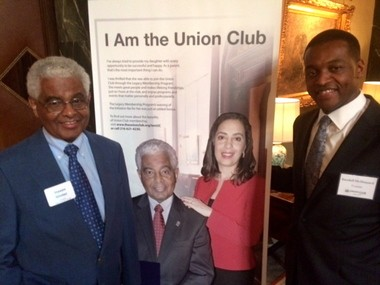 Steve Minter, senior fellow at Cleveland State University College of Urban Affairs, was the first African American Union Club resident member in 1989. He was happy to see a poster in the lobby at the social club late Thursday at a reception for Randy McShepard, the Union Club's new president.